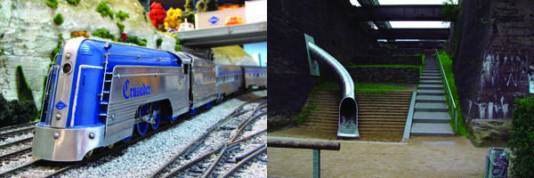 LEFT: Reading Crusader from the Reading Terminal Market Display; photo from website Found Connections via Hidden City RIGHT: Landscape Park, Duisburg-Nord, Germany; photo from Viaduct Greene via Hidden City
