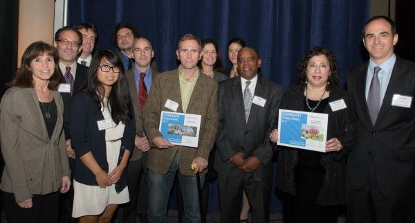 The Collaborative recognized volunteers and community leaders for their  efforts to green Weccacoe Playground and Nebinger Elementary School at the AIA Philadelphia's Awards for Design Excellence.