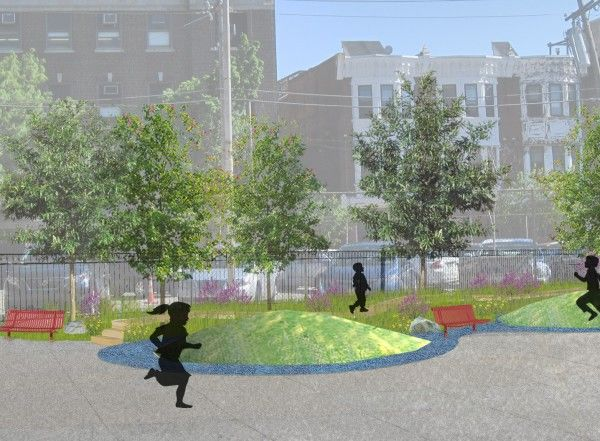 Meredith Green Conceptual Plan: A bioswale grows in Philly.