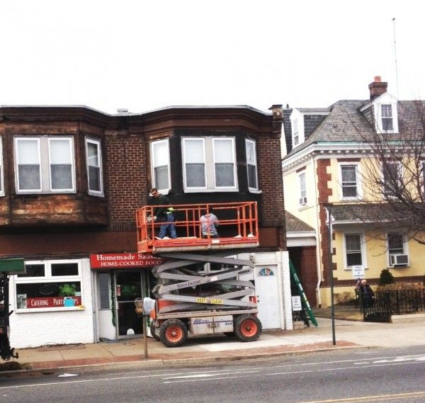 DeNofa's Deli is the first of six Torresdale Avenue businesses to get a facelift.