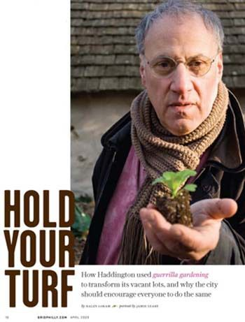 Skip Weiner, orginal guerilla gardener and founder of the nonprofit Urban Tree Connection. Image courtesy of Grid magazine.