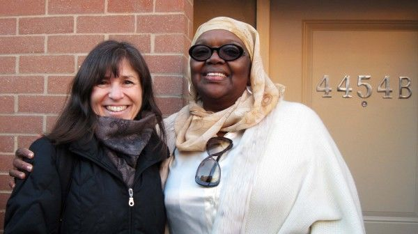 Heidi Segall Levy joins Majeedah Rashid, Chief Operating Office of Nicetown CDC, for the dedication.